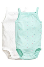 2-pack bodysuits - Mint green/Spotted - Kids | H&M 1