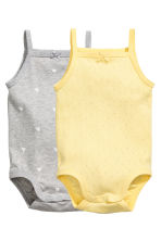 2-pack bodysuits - Yellow - Kids | H&M 1