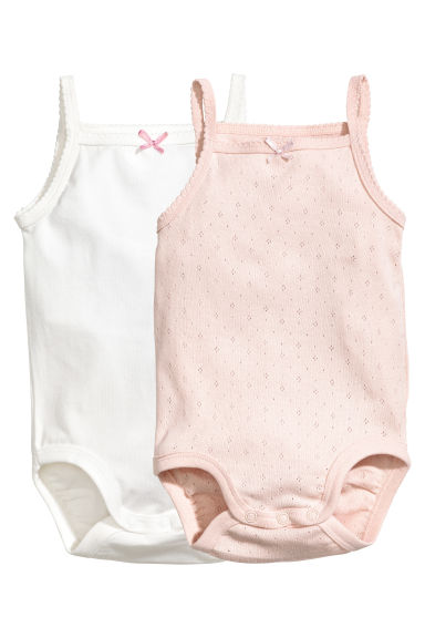 2-pack bodysuits - Powder pink - Kids | H&M