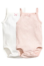 2-pack bodysuits - Powder pink -  | H&M 1