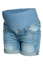 MAMA Denim shorts - Light denim blue - Ladies | H&M 2