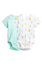 2-pack bodysuits - Mint green - Kids | H&M 1