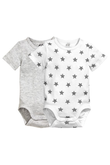 2-pack bodysuits - White/Stars -  | H&M 1