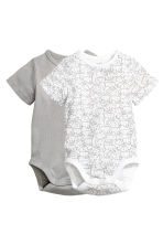 2-pack bodysuits - White/Elephants - Kids | H&M 1