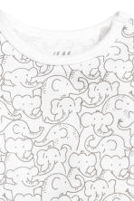 2-pack bodysuits - White/Elephants - Kids | H&M 3