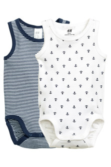 2-pack sleeveless bodysuits