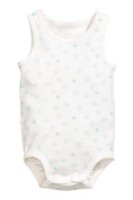 2-pack sleeveless bodysuits - Mint green -  | H&M 2