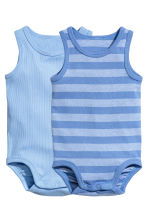 2-pack sleeveless bodysuits - Light blue -  | H&M 1
