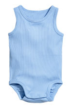 2-pack sleeveless bodysuits - Light blue -  | H&M 2