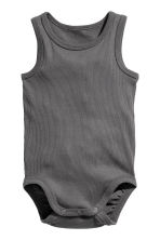 2-pack sleeveless bodysuits - Grey -  | H&M CN 2
