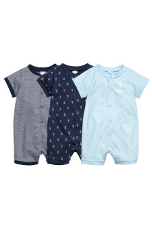 3-pack all-in-one pyjamas