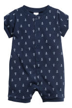 3-pack all-in-one pyjamas - Dark blue/Anchor - Kids | H&M 4