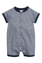 3-pack all-in-one pyjamas - Dark blue/Anchor - Kids | H&M 3