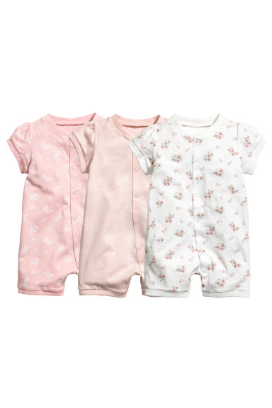 3-pack all-in-one pyjamas - Powder pink - Kids | H&M