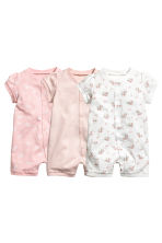 Lot de 3 pyjamas - Rose poudré - ENFANT | H&M FR 1
