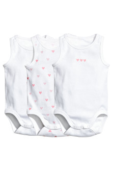 3-pack sleeveless bodysuits