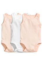 3-pack sleeveless bodysuits - Powder pink - Kids | H&M CN 1