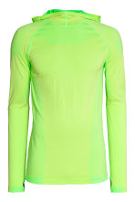 Seamless hooded running top - Neon yellow - Men | H&M 2