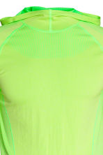 Seamless hooded running top - Neon yellow - Men | H&M 3
