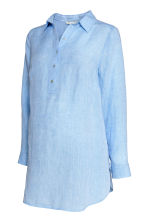 MAMA Linen blouse - Light blue - Ladies | H&M 2