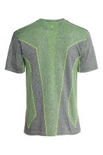 Seamless sports top - Dark grey marl - Men | H&M CN 3