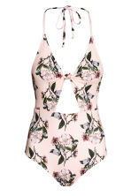 Halterneck swimsuit - Light pink/Floral - Ladies | H&M CN 2