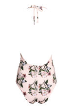 Halterneck swimsuit - Light pink/Floral - Ladies | H&M CN 3