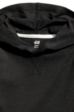 Hooded T-shirt - Black -  | H&M 3