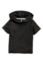Hooded T-shirt - Black -  | H&M 2