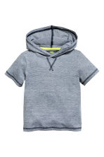 Hooded T-shirt - Dark blue/Narrow striped - Kids | H&M 2