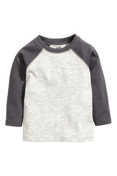 Long-sleeved T-shirt - Dark grey -  | H&M 1