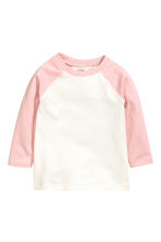 Long-sleeved T-shirt - Light pink -  | H&M 1