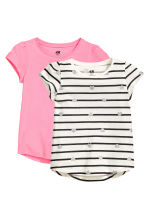 2-pack jersey tops - Natural white/Striped -  | H&M CN 2