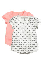 2-pack jersey tops - Light grey marl - Kids | H&M 2