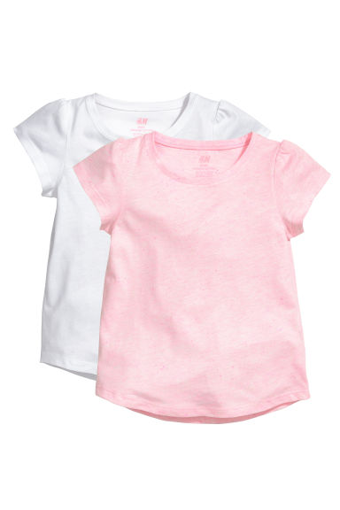 Lot de 2 tops en jersey - Rose - ENFANT | H&M FR
