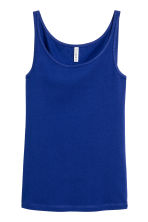 Jersey vest top - Cornflower blue - Ladies | H&M CN 2