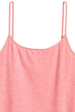 Long jersey strappy top - Coral pink - Ladies | H&M 3