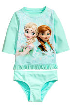 Swim set with UPF 50 - Mint green/Frozen - Kids | H&M 1