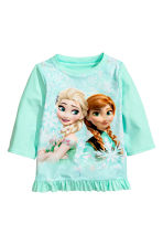 UPF 50 兩件式泳裝 - Mint green/Frozen - Kids | H&M 2