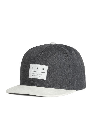 Cap with appliqué - Dark grey - Men | H&M IE