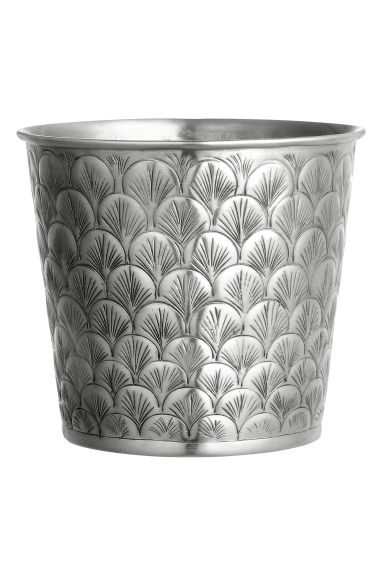Grande vaso in metallo  - Argentato - HOME | H&M IT 1