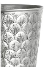 Grande vaso in metallo  - Argentato - HOME | H&M IT 2
