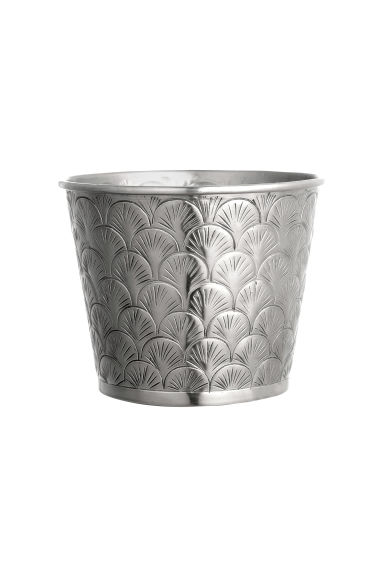 Metal plant pot - Silver - Home All | H&M CN 1