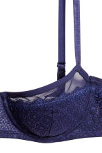 Reggiseno tulle e pizzo - Navy scuro - DONNA | H&M IT 3