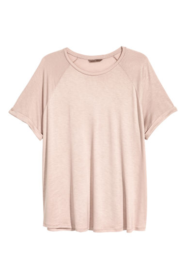 H&M+ Short-sleeved top - Powder pink -  | H&M 1
