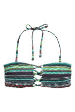 Bandeau bikini top - Green/Patterned - Ladies | H&M CN 3
