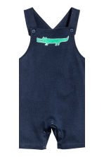 T-shirt and dungaree shorts - Dark blue -  | H&M CA 3