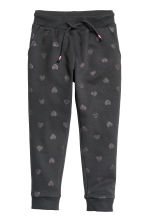 Sweatpants - Dark grey/Hearts -  | H&M CN 2