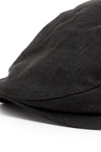 Linen-blend flat cap - Black - Men | H&M 2