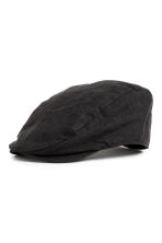 Linen-blend flat cap - Black - Men | H&M 1